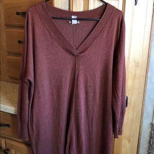 H&M rust tunic sweater top XL